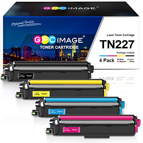 GPC Image Compatible Toner Cartridge Replacement for Brother TN227 TN-227 TN227bk TN223 fit for HL-L3210CW HL-L3230CDW HL-L3270CDW HL-L3290CDW MFC-L3710CW MFC-L3750CDW MFC-L3770CDW Printer (4 Pack)