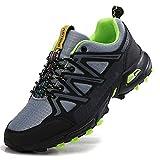 ASTERO Zapatillas de Deportes Hombre Running Zapatos para Correr Gimnasio Calzado Deportivos Ligero Sneakers Transpirables Casual Montaña Calzado Talla 41-46 (Gris, Numeric_46)
