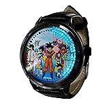 Anime Dragon Ball ZLED Reloj de Pantalla táctil Impermeable Luminoso Reloj Digital Unisex Cosplay Regalo Nuevo Reloj niños Regalo-A