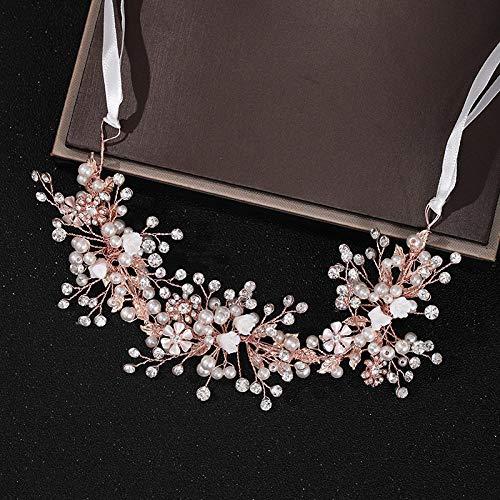yuge Rose Gold Hochzeit Haarzubehör Kopfschmuck Brauthaarzubehör Handgemachte Damen Prom Kopfschmuck Crown Rosegold