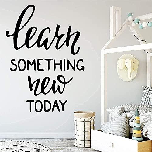 TJVXN Las Elegantes calcomanías de Pared para Dormitorio brindan decoración del hogar Personalizada con Citas Inspiradoras de Vinilo 58X79 cm