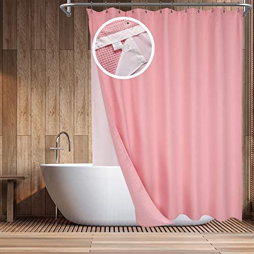 Barossa Design Baumwoll-Duschvorhang, Farben & Größen 72Wx72H(W/Liner) Candy pink