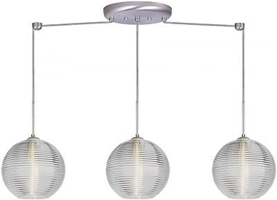 Elk Lighting 10342//3 Kersey Collection 3 Light Chandelier Satin Nickel 10 x 10 x 6