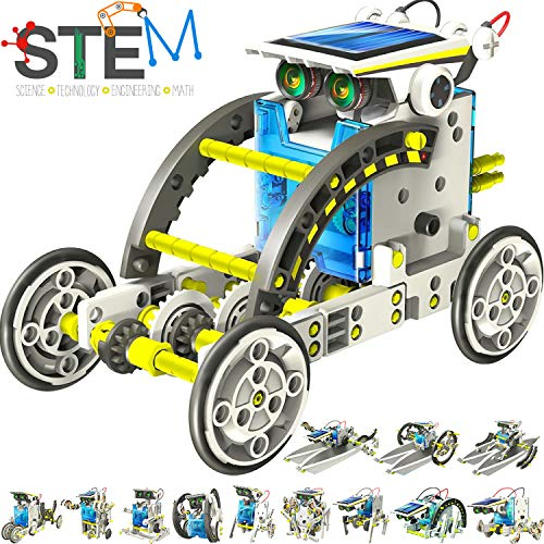 Coodoo Robots for Kids Science Kits for Kids 10 – 12 Stem Toys Gifts for Kids & Science Lovers Age 8 9 10 11 12 with Solar Panel 13 in 1 Solar Robot