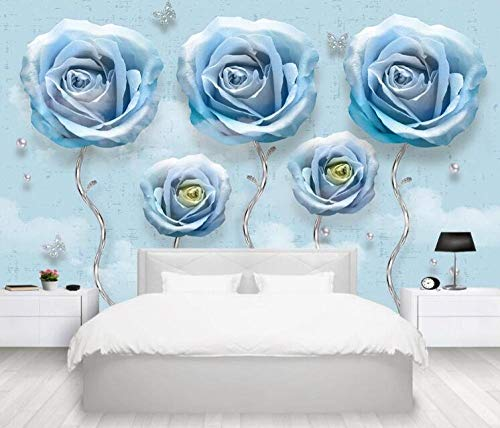 Benutzerdefinierte wohnzimmer schlafzimmer tapete wandbild 3D geprägte schmuck rose TV hintergrund wand dekorative malerei @ 400 * 280 cm