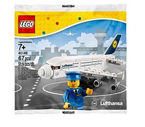 LEGO 40146 Lufthansa Airbus A380 - Figuras coleccionables (67 piezas, en bolsa de plástico)
