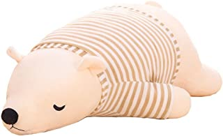 MMTTAO Polar Bear Stuffed Animal Plush Toys 20 Inch Animals Stuffed Dolls Large White Sleeping Bear Collection Huggable Pillow Cushion for Kids Child Boys Girls Gifts, Polar Bear, White, 20Inches