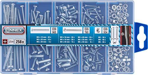 Connex DP8500002 Gewindeschrauben-Sortimentskasten, PH Phillips- Antrieb, 258- teilig