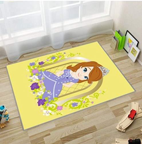 Alfombra Rectángulo Sala De Estar Estudio Dormitorio Baño Dibujos Animados Anime Pequeña Princesa Linda Habitación De Niña Creativa Alfombra De Puerta De Pila Corta Alfombra Decorativa 70Cm * 140Cm