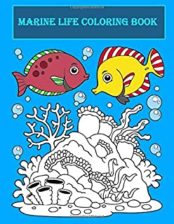 Marine life Coloring Book: Fish from all seas in your coloring book.