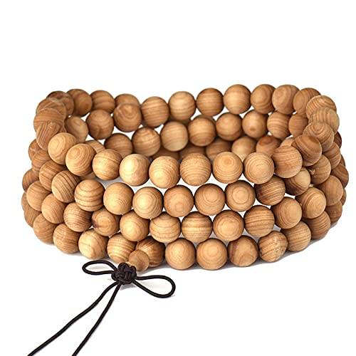 Ssanggye 8Mm 108 Beads Natural Taihang Mountain Cliff Parker Wood Buddhist Buddha Bracelet Women Men Meditation Prayer Bead Mala