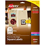Avery Square Labels, Laser & Inkjet Printers, Sure Feed, Print-to-The-Edge, 1.5' x 1.5', 600 Labels (22805)