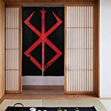 Sacrifice Berserk Symbols Curtain Noren Tapestry Japan Noren Doorway Curtain Door Way Curtain Fitting Room Curtain Partition Curtain Door Hanging Tapestry 34 x 56 Inches