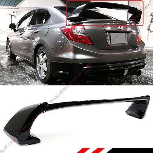 Cuztom Tuning Glossy Black JDM Mug RR Style Trunk Spoiler Wing Compatible with 2012-2015 9TH Gen Honda Civic 4 Door Sedan Model