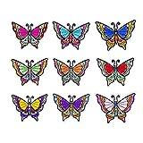 XDLUK 9 Piezas Parches Iron-on Patchwork Mariposa Tema Niños Parches DIY Pegatinas Apliques para Ropa Jeans Chaqueta Camiseta Bolso