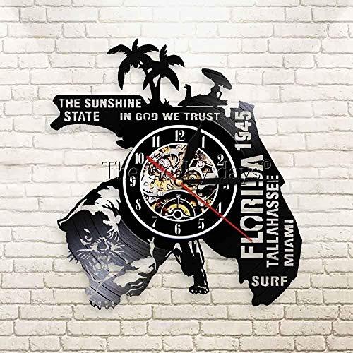 TJIAXU Hora de Verano Florida Reloj de Pared Playa Vacaciones Viajes Estados...