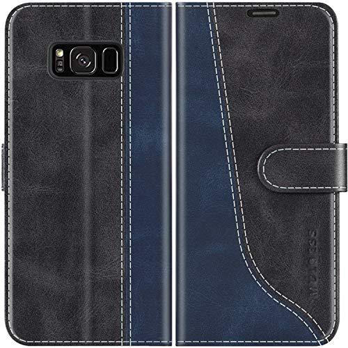 Mulbess Custodia per Samsung S8 Plus, Cover Samsung S8 Plus Libro, Custodia Samsung Galaxy S8 Plus Pelle, Flip Cover per Samsung Galaxy S8 Plus Portafoglio, Nero