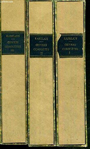 OEUVRES COMPLETES DE RABELAIS 1490