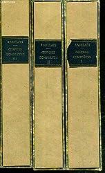 OEUVRES COMPLETES DE RABELAIS 1490 - 1553 - 3 TOMES - I + II + III. de RABELAIS - RAT MAURICE