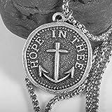 xtszlfj Esperanza en te Mariner Collar Ancla náutica Colgante Vintage Moneda sentimiento joyería Mejor Regalo Amigo