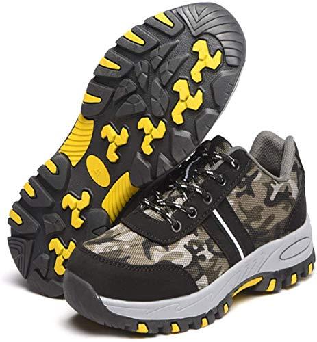 LBHH Zapatos de Trabajo Botas de Seguridad Zapatos de Seguridad Zapatos de construcción Testa in Acciaio leggera e traspirante,isolamento Anti-schiacciamento e antiperforazione
