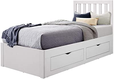 5f46fa5b242b Birlea Appleby 3FT White Single Bed Frame 90cm Drawer Storage Bedstead