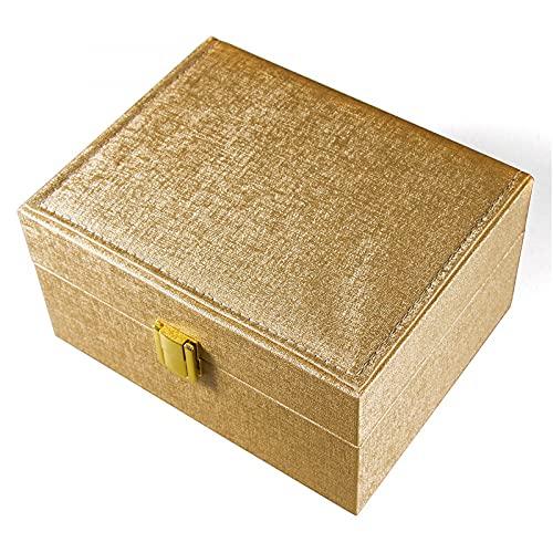 MUY Caja de Embalaje de joyería MUY Caja de Reloj Personalizada Caja de Regalo de Reloj Caja de Reloj con Textura de Cuero de PU Dorada Caja de recue