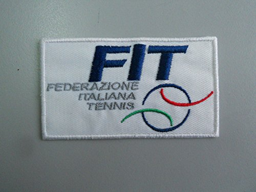 PATCH,TOPPA RICAMATA PATCH FIT FEDERAZIONE ITALIANA TENNIS RICAMATA TERMOADESIVA CM 8X4,5 REPLICA - 1492