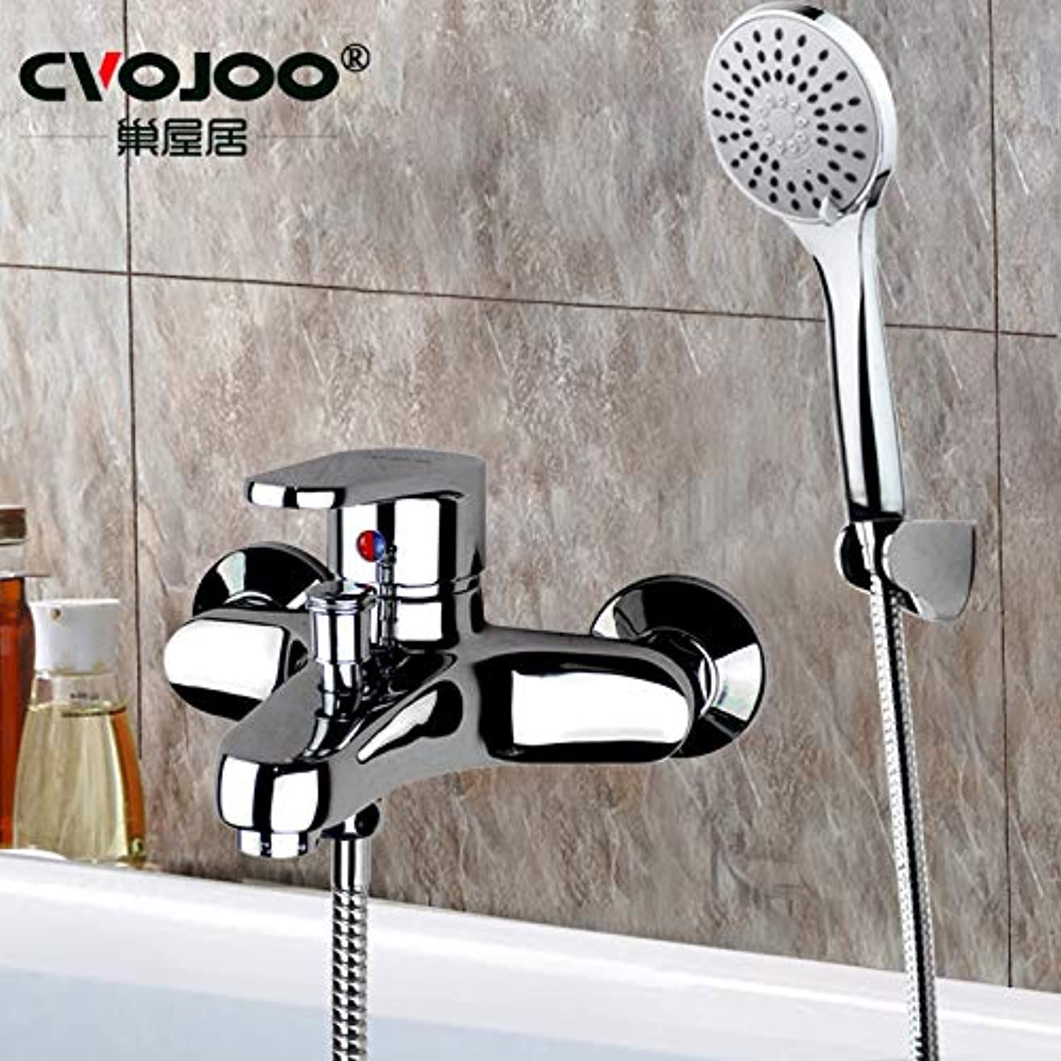 Lalaky Taps Faucet Kitchen Mixer Sink Waterfall Bathroom Mixer Basin Mixer Tap for Kitchen Bathroom and Washroom Copper Hot and Cold Water Heater Mixing Valve Nozzle