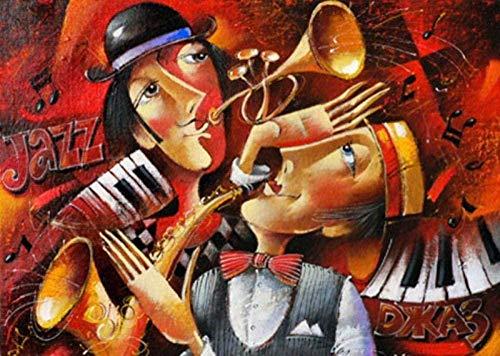 RHRW Puzzle de 1000 Piezas de Rompecabezas de Madera Jazz Duet Famous Painting World Oil Painting Niños Juguetes