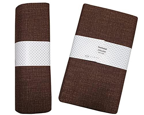 mediatex srl Gran foulard Sorrento - Toalla decorativa para cama de matrimonio de 2 plazas, 250 x 280 cm, fabricada en Italia (marrón)