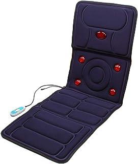 FDQNDXF El Calor Eléctrico Mat Masaje con Vibración Motors 9 Y 5 Terapia Calefacción Cuerpo del Cojín De Ratón De Masaje para Aliviar La Espalda Y El Dolor De Espalda