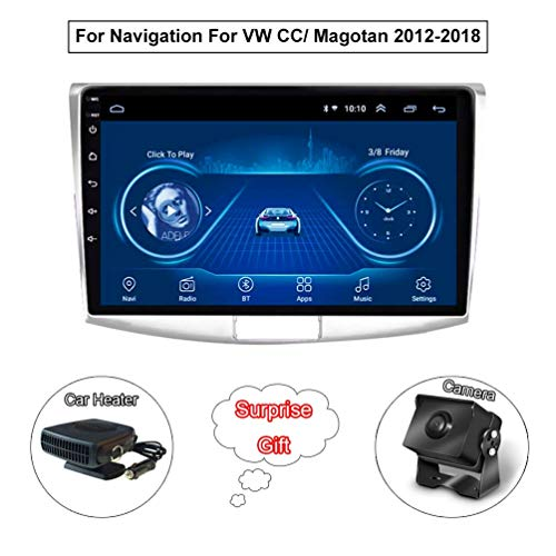 XMZWD 10.1 Zoll GPS Navigationssystem Android 8.1 Multimedia Player, Für VW Magotan CC Passat 7 B7 2012-2018 Unterstützt Bluetooth/HD Touchscreen (Enthalten Kamera/Auto Heizung)