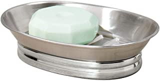 iDesign York Metal Soap Saver, Holder Tray for Bathroom Counter, Shower, Kitchen, 4