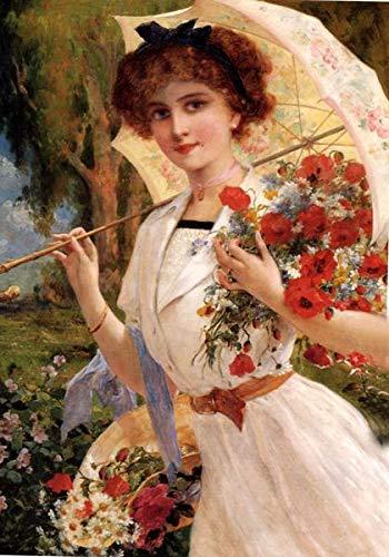 sanzangtang Leinwanddrucke Mädchen mit Regenschirm Bilder Wandkunst Dekor Homefor Wohnzimmer Poster50x75cmRahmenlose Malerei