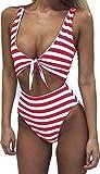 Farktop Womens Swimsuits Sexy Thong Bandeau Bikini High Waisted...