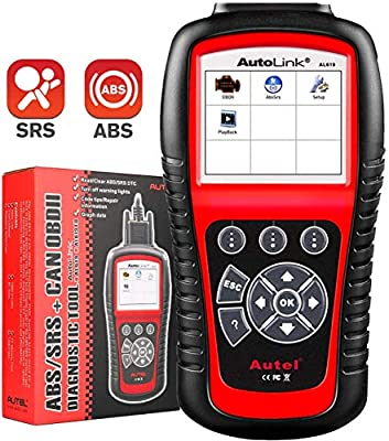 Autel Autolink AL619 OBD2 Scanner ABS SRS Airbag Warning Light Scan Tool, Turn Off Check Engine Light Car Diagnostic Tool, Quick Test Engine System Code Reader from Autel