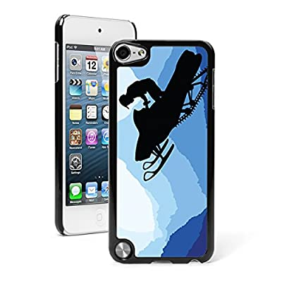 Apple iPod Touch 5th/6th Generation Hard Back Case Cover Snowmobile Rider
