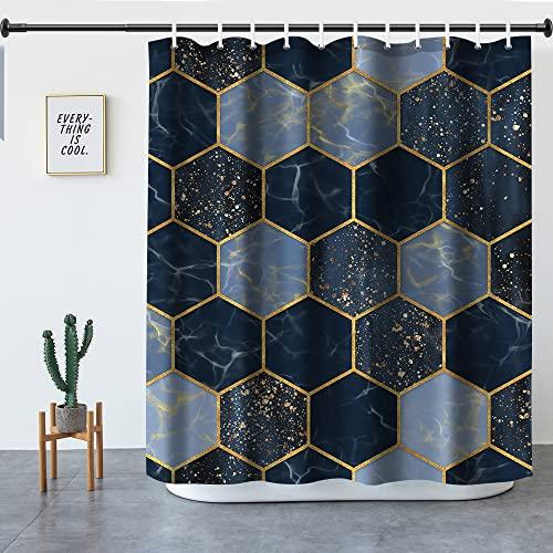 Duschvorhang, Kuchisity 180 x 200 cm Anti-Schimmel Duschvorhänge Wasserdichter Polyester Shower Curtains, Waschbar Anti-Bakteriell Badezimmer Vorhang mit 12 Duschvorhangringen