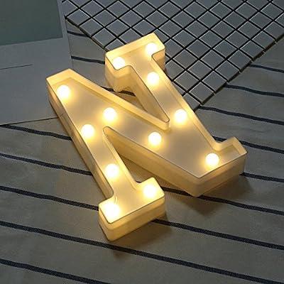 Amazon - Save 80%: Alphabet LED Letter Lights Light Up White Plastic Letters Standing Hanging N