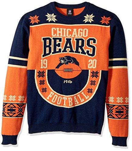NFL Chicago Bears RETRO Ugly Sweater, Medium