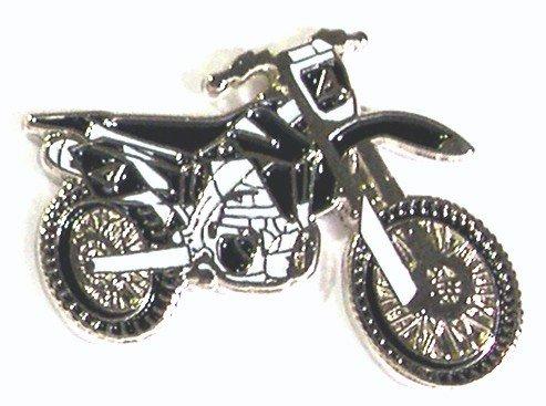 Metall-Emaille-Anstecker Moto Cross Enduro Trials Trail Green Lanes Bike Motorrad (schwarz)