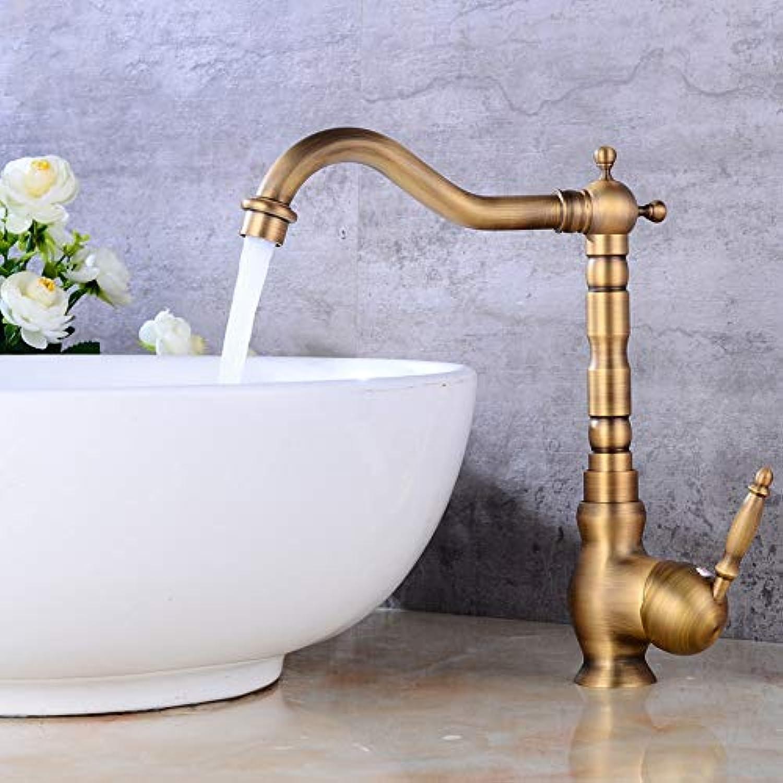 Waschbecken Wasserhahn antike Bronze fertig heies und kaltes Wasser Mischbatterie Kran mit Pop-Up
