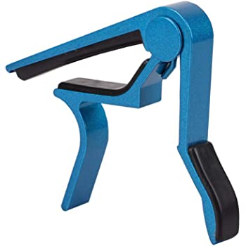 Redcolourful Metal Guitar Capo Quick Change Clamp Key Acoustic Classic Guitar Capo for Tone Adjusting Blue