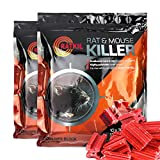 RatKil Rat Poison 600g Rat And Mouse Killer Bait Blocks (2 x 300g)- Professional Strength Difenacoum - Fast Acting Poison For Pest Control - Weatherproof And Home Friendly!