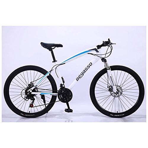 Chenbz Deportes al Aire Libre 26 '' de Aluminio for Bicicleta de montaña con 17 '' Frame Freno de Disco 2130 velocidades, suspensión Delantera (Color : White, Size : 30 Speed)