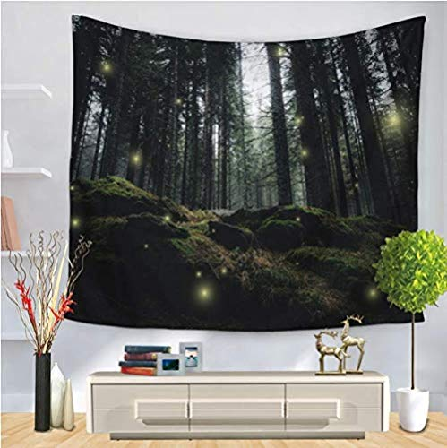 HUIQ tapices Acuarela Verde Bosque Paisaje sofá Colgante de Pared Amor decoración del hogar colchas Grandes 200 * 150 Mm