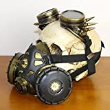 ZISHINE Mascarilla de Gas con Gafas Halloween Cosplay Props Steplice Steampunk...