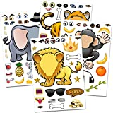 24 Make-A-Zoo Animal Sticker Sheets - Great Zoo And Safari Theme Birthday Party Favors - Fun Craft...