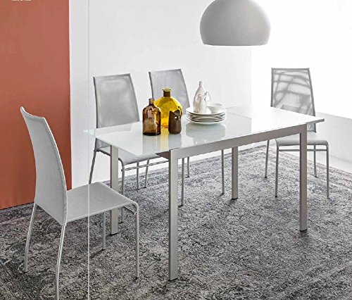 Calligaris Connubia by Table Aladino L 120 – Plateau/rallonge : P18W nob. Beton Gris – Finition : P176 m Taupe Mat
